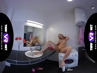 TmwVRnet - Katy Sky - Blonde orgasms on bathroom sink