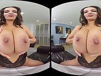 POV VR hardcore with busty brunette diva Ava Addams - pornstar