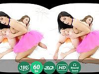 Lexi Dona,Nedda in Hot Lezzies Use A Double Dildo For Double Pleasure - TMWVRNet